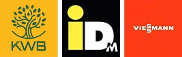 Partner der Firma Knott: KWB; IDM, Viessmann